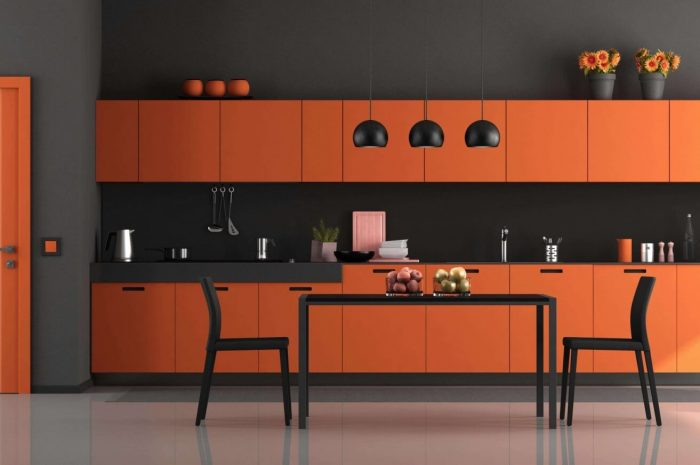 keuken oranje